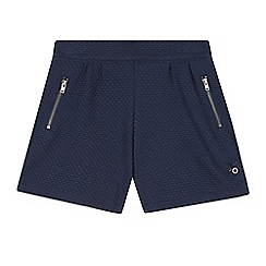 J by Jasper Conran - Girl's navy textured jersey shorts