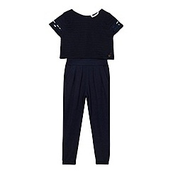 J by Jasper Conran - Girls' navy crop layer jumpsuit