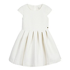 J by Jasper Conran - Girls' off white gold sparkle jacquard dress