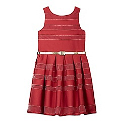 J by Jasper Conran - Girls' red striped shadow dress