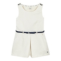 J by Jasper Conran - Girls' white jacquard playsuit