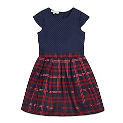 J by Jasper Conran - Girls' navy checkered dress