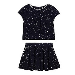 J by Jasper Conran - Girls' navy star print top and culotte set