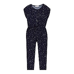 J by Jasper Conran - Girls' navy star print jumpsuit