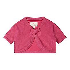 RJR.John Rocha - Designer girl's pink metallic bow detail bolero