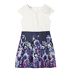 RJR.John Rocha - Designer girl's purple floral skirt dress
