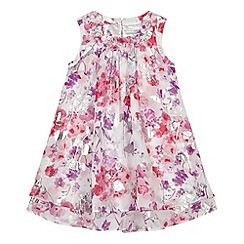 RJR.John Rocha - Designer girl's pink floral trapeze dress