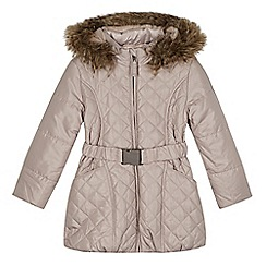 RJR.John Rocha - Designer girl's natural quilted padded coat