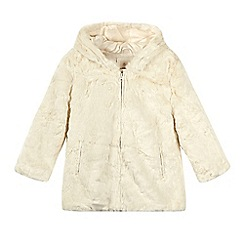 RJR.John Rocha - Girls' cream faux fur coat