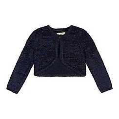 RJR.John Rocha - Girl's navy fluffy cardigan