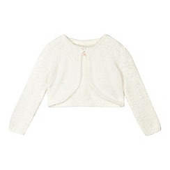 RJR.John Rocha - Girls' cream fluffy cardigan