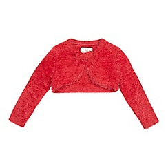 RJR.John Rocha - Girls' red cropped cardigan