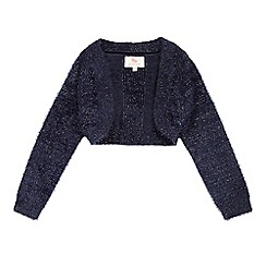 RJR.John Rocha - Girls' navy long sleeved shrug cardigan