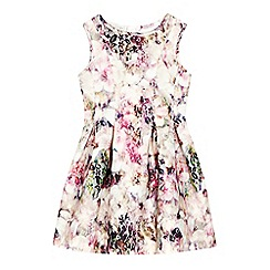 RJR.John Rocha - Designer girl's cream floral lace scuba dress