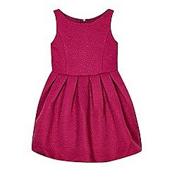 RJR.John Rocha - Designer girl's pink jacquard dress
