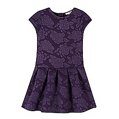 RJR.John Rocha - Designer girl's purple floral jersey dress