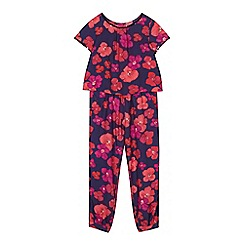 RJR.John Rocha - Girls' navy pansy jumpsuit