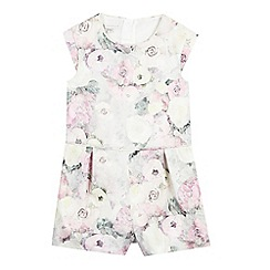 RJR.John Rocha - Girls' white rose print playsuit