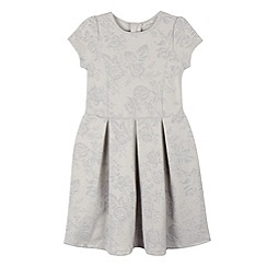 RJR.John Rocha - Girls' silver velvet textured floral dress