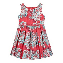 Piknik - Girl's pink floral butterfly dress