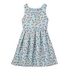 Piknik - Girl's blue floral belted dress