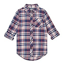 Mantaray - Girls' navy checked shirt