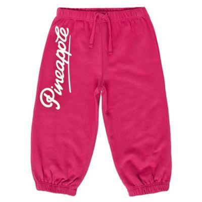 Girls Pink Cropped Jogging Bottoms