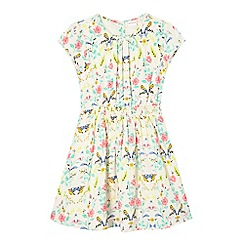 bluezoo - Girls' cream bird print dress