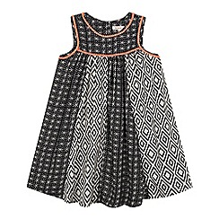 bluezoo - Girls' black aztec print dress