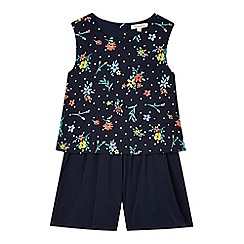bluezoo - Girls' navy ditsy playsuit