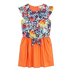bluezoo - Girls' multi-coloured tropical print dress