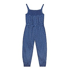 bluezoo - Girls' navy floral jumpsuit