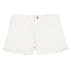 bluezoo - Girls  white lace trim shorts