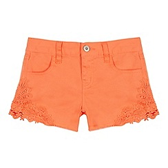 bluezoo - Girls' coral lace trim shorts