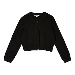bluezoo - Girls' black knitted cardigan