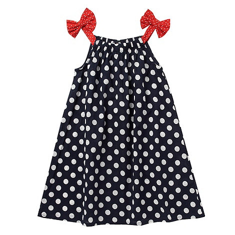 bluezoo - Girl+s navy spot printed dress