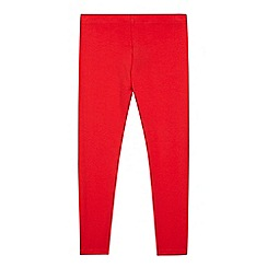 bluezoo - Girl's red plain leggings