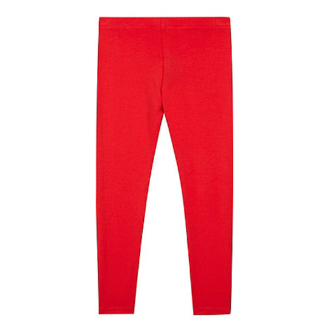 bluezoo - Girl+s red plain leggings