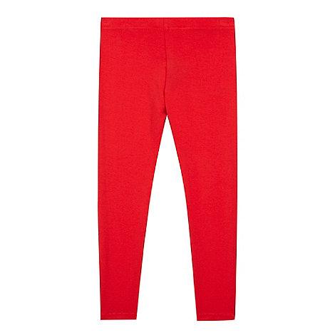 bluezoo - Girl+s red plain leggings
