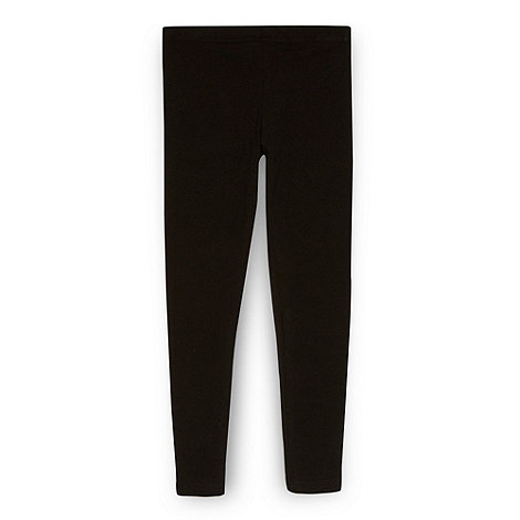 bluezoo - Girl+s black stretch leggings