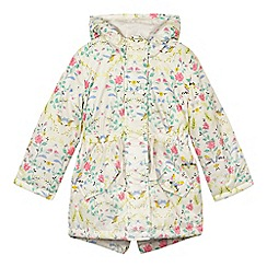 bluezoo - Girls' cream bird padded coat