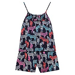 bluezoo - Girls' navy cami top and shorts