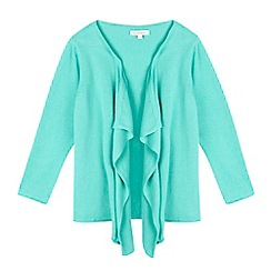 bluezoo - Girls' green waterfall kimono cardigan