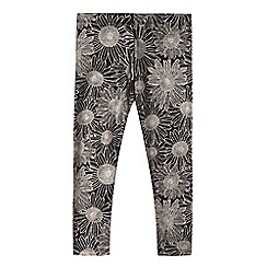 bluezoo - Girls' black sunflower leggings