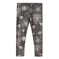 bluezoo - Girls' black sunflower leggings