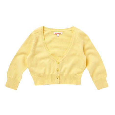 bluezoo - Girl+s yellow button through cardigan