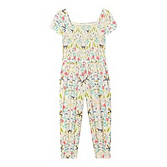 bluezoo - Girls' cream hummingbird gypsy jumpsuit