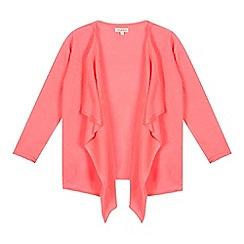 bluezoo - Girls' pink waterfall kimono cardigan