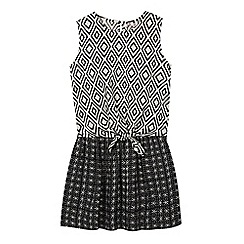 bluezoo - Girls' white aztec print top and skirt set