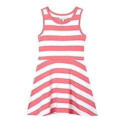 bluezoo - Girls' pink striped sleeveless dress